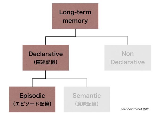記憶の分類 エピソード記憶